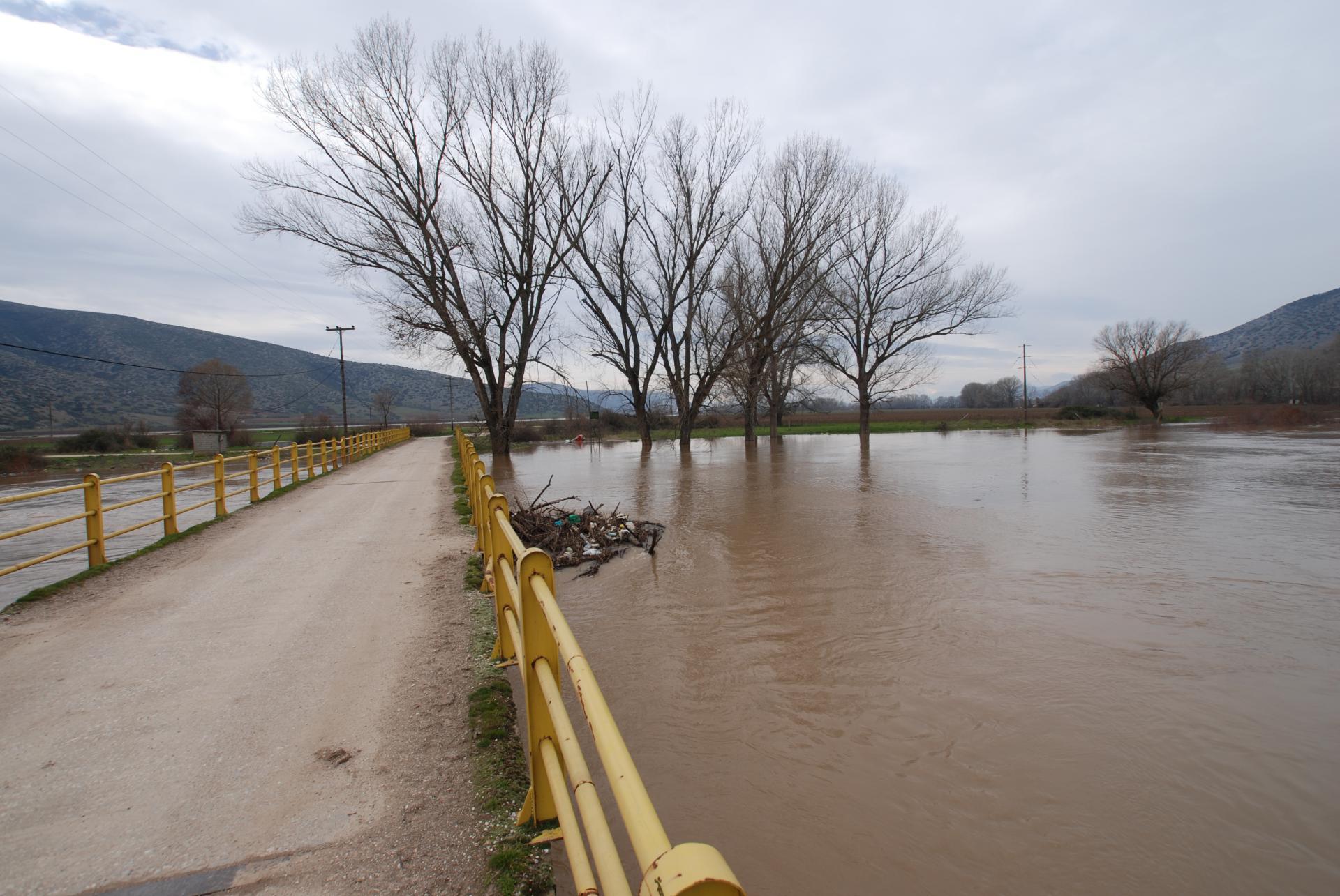2010 Πλημμύρα - Πηνειός Ποταμός - Γέφυρα Πηνειάδας