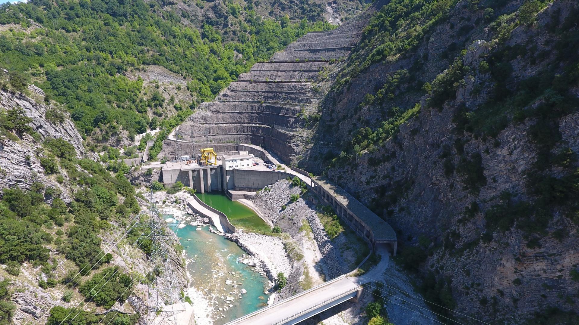 Γενική Άποψη Υδροηλεκτρικού Σταθμού Γλύστρας Μεσοχώρας