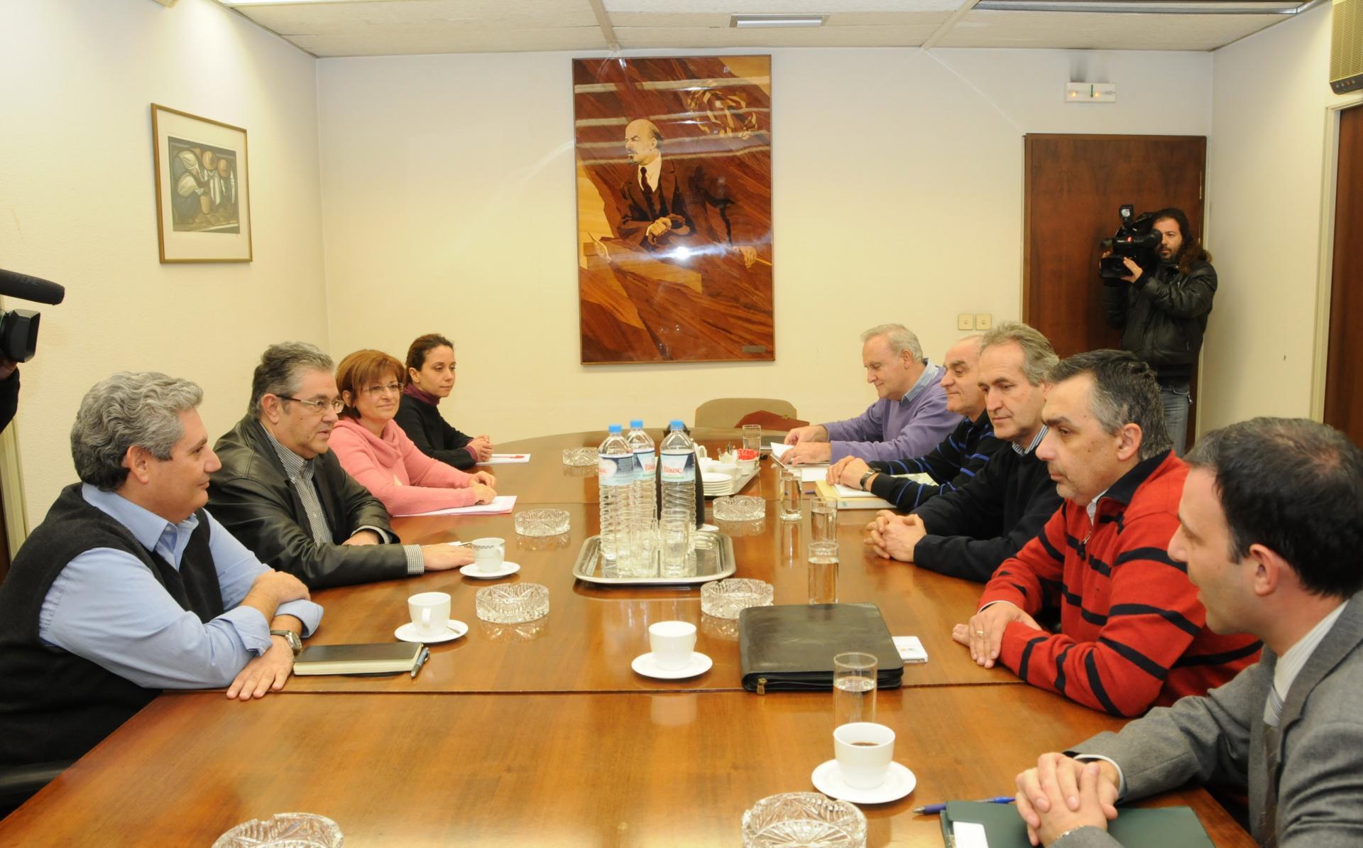 Συνάντηση με ΓΓ ΚΚΕ κ. Κουτσούμπα